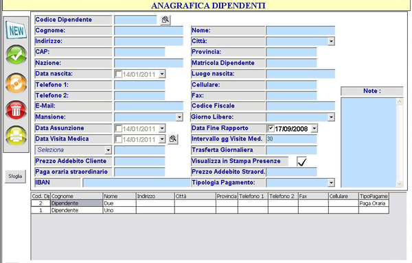 anagrafica dipendenti